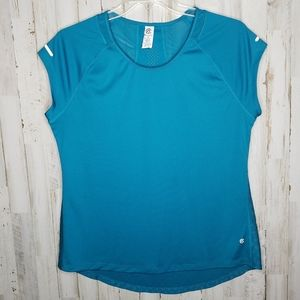 Champion Teal Athletic Workout Top Short Sleeve